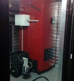 Котел в модуле с выносным бункером под топливо
