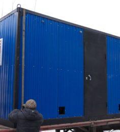 Модульная котельная на два котла с бункерами 2,5м.куб.