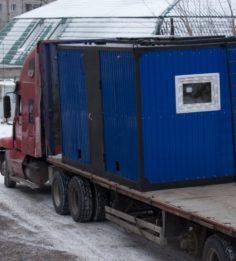 Отправка модульной котельной на два котла с бункерами 2,5м.куб.