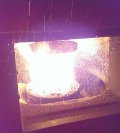 Пламя в реторте 80 кВт